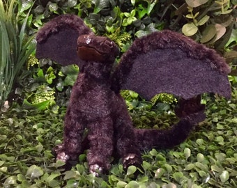 Red Chin Night Wing Dragon Hatchling Art Doll