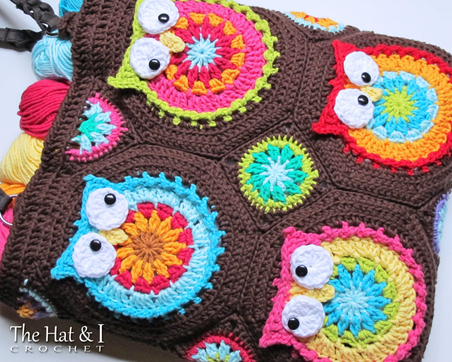 Colorful Crochet Owl Purse Pattern Adornment - Easy Scarf Knitting ...