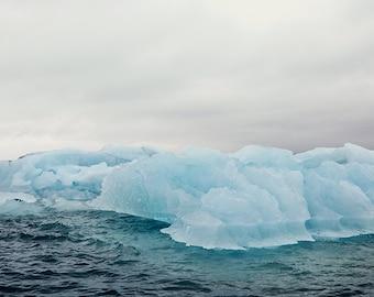 Iceberg Photograph, Nature Photography, Winter Landscape Print, Landscape Photography, Scandinavian Art, Jokulsarlon Iceland, Blue Wall Art