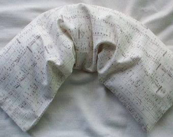 Rice Filled Therapy Pack - Unscented Microwave Rice Bag for Music Lovers