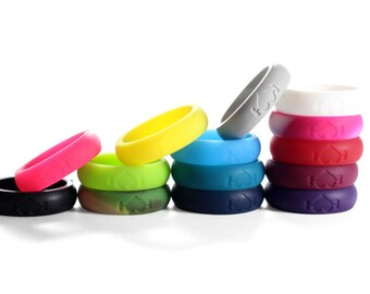 5 pack Silicone Wedding Rings for Men Perfect for Active