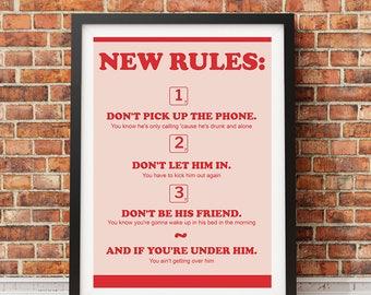 DUA LIPA - 'New Rules' Poster
