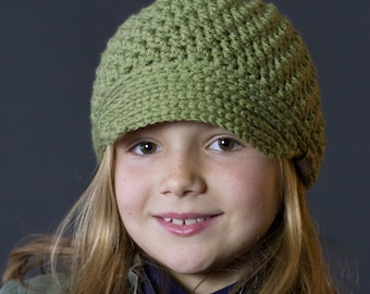 Crochet PATTERN Voyager Newsboy Crochet Hat Pattern Includes Sizes Newborn to Ladies.
