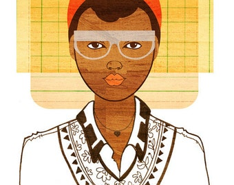 Yearbook Colette Portrait, Art Print (African American Illustration)