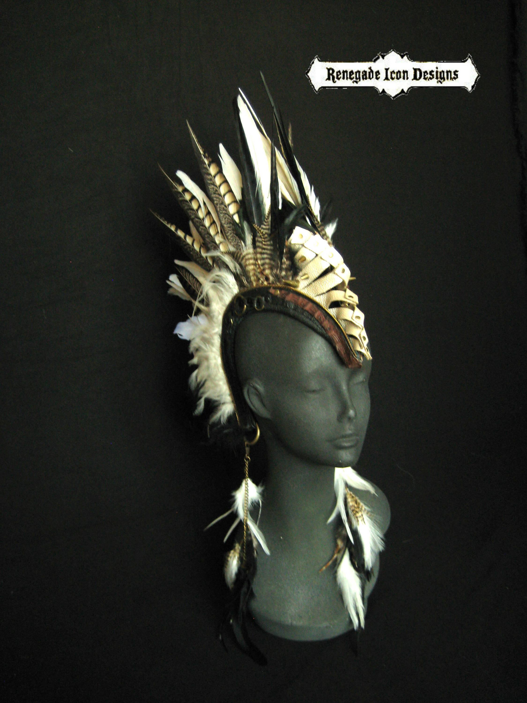 Hergestellt auf Bestellung Krieger FeatherHeadpiece