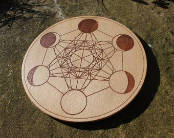 Metatron's cube/Moon-phase - Crystal Grid
