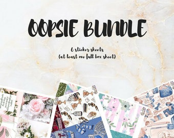 OOPSIE BUNDLE! (6 sheets)
