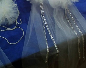 Wedding Pew Bow,Tulle Pew Bow, Tulle churche pew bow, Pew Bow, white tulle pew bow, chair bow, wedding pews