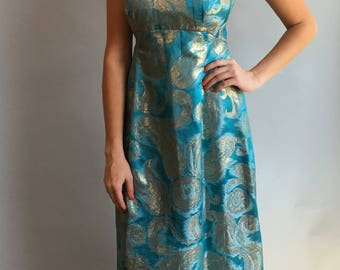 VTG 1960s Brocade Slip Dress