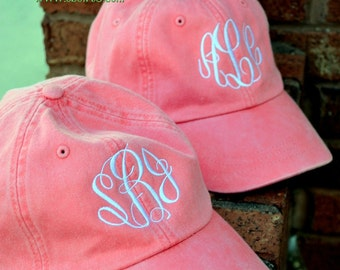 MONOGRAMMED Baseball Hat  ASSORTED Colors - Bridesmaid Gift - Bridal Shower