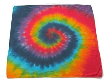 Tie Dye Bandana in Rainbow Swirl