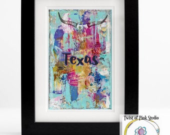 Texas ~Printable~ 8x 10~ download~ collage art
