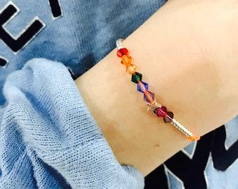 Kids Rainbow Star Friendship Bracelet