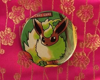 """Upcycled Pokémon Flareon 2.25"""" Button"""