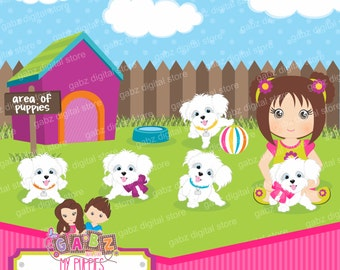 My Puppies, Little Dog, Birthday, Clipart, Gabz