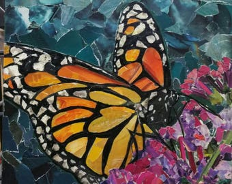 Monarch Butterfly collage