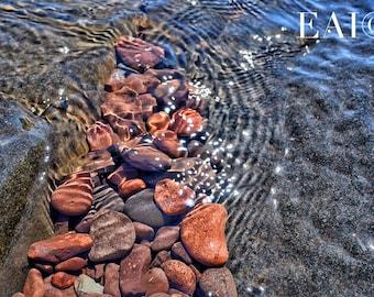 Lake Superior/Duluth/waves crashing/shore/lakes/water/great lakes/zen/wall art/rocks/sculpture/nature photography/Minnesota photography