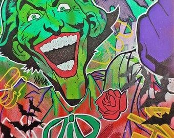Joker, Batman, comic print