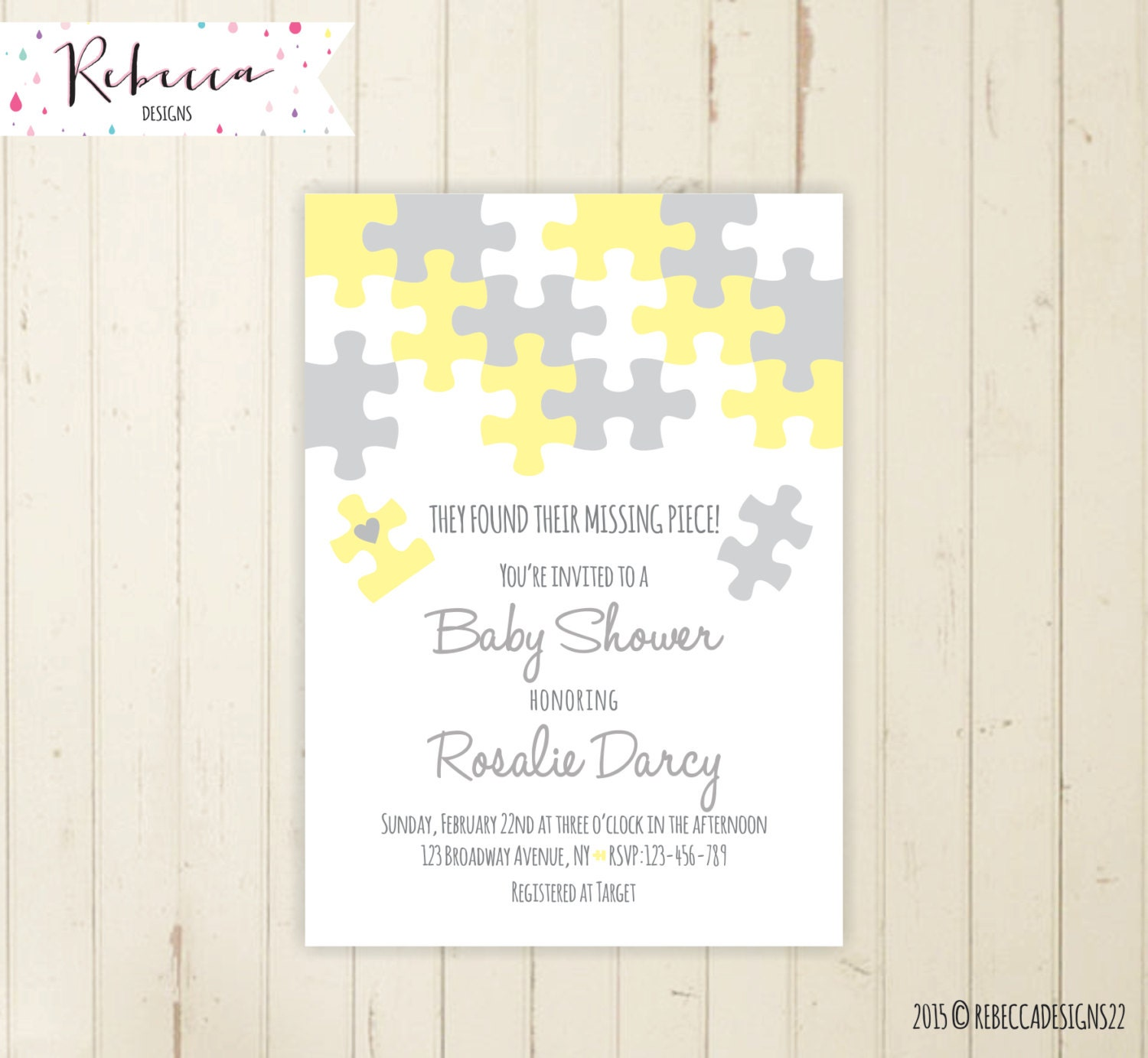 coed baby shower invitation neutral baby shower invitation