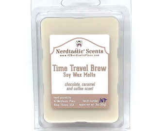Time Travel Brew Soy Wax Melts, Chocolate Coffee Wax Tarts, Coffee Lover Housewarming Gift, Geekery, Fandom Candle Melts, Home Fragrance
