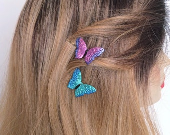 Butterfly Hair Picks, Butterfly hair pins, Butterfly Booby Pins, Set of 2
