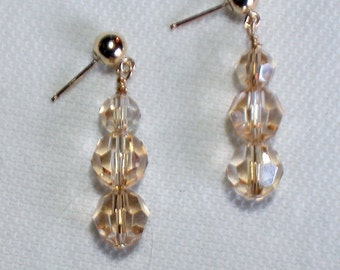 Swarovski Golden Shadow Crystal Earrings