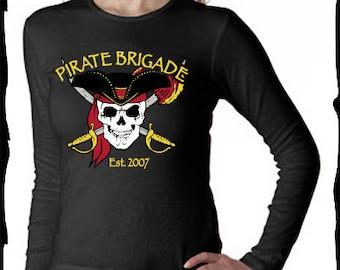 Pirate Brigade Ladies Long Sleeve T-shirt