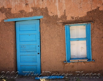 New Mexico Blue Door - Blue Door Photo - Fine Art Photo - Southwest - New Mexico - Southwest Photo - - Home Decor