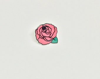 Rose pin back