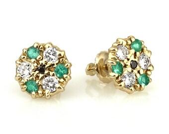 Diamond Stud Earrings, Wedding Earrings, Bridal Diamond Earrings, Diamond Posts, Victorian Wedding, Luxury Stud Earrings, Victorian Studs
