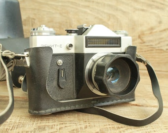 """rare camera / collectible camera / Old Vintage Soviet  Camera """" Zenit - E """"  with objective """" Micar/S """""""