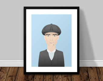 Tommy Shelby Peaky Blinders Illustrated Poster Print | A6 A5 A4 A3