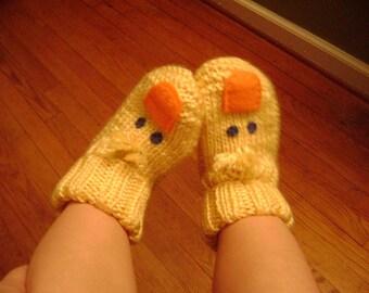 yellow duckie slippers
