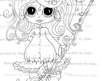 INSTANT DOWNLOAD Digital Digi Stamps Big Eye Big Head Dolls Digi Fall Bestie IMG3482TM By Sherri Baldy