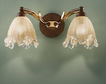 Italian Wall Sconce, Wall Sconce, Tropical Sconce, Wall Mount, Made in Italy