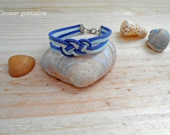 Bracelet suede sailor knot, birthday gift, mother's day