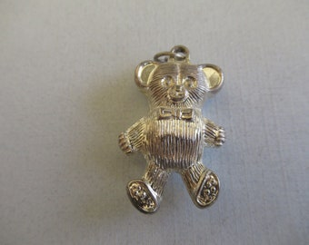 Bear pendants, teddy bears, vintage bears,vintage  bear pendants, bear charms, silver bears, bears, 2 sided pendants, 2 sided charms