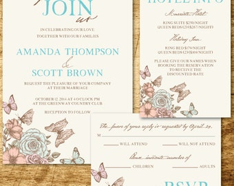 Spring Floral Wedding Invitation Printable
