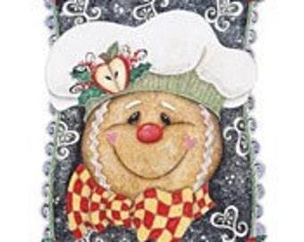 Yummy Yummy Gingerbread Head on Sweatshirt - U Pic Size and Collar - Small to XXLarge
