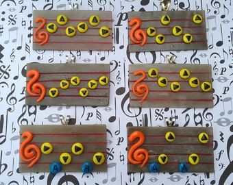 Ocarina of Time-  Spell Song Pendants