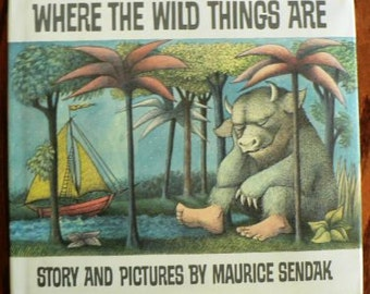 vintage book ... SENDAKs Where the WILD THINGS Are ...