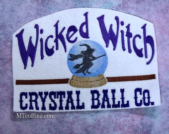 Wicked Witch Crystal Ball Company Iron On Embroidery Patch MTCoffinz