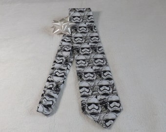 neck tie made from Star Wars Storm Trooper in rows cotton fabric Adult/teen, the force awakens, return of the jedi, cosplay, 501st, scifi