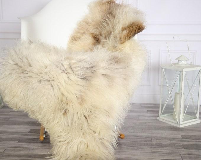 Sheepskin Rug | Real Sheepskin Rug | Shaggy Rug | Chair Cover | Sheepskin Throw | Brown Beige Sheepskin | Home Decor | #Apriher39