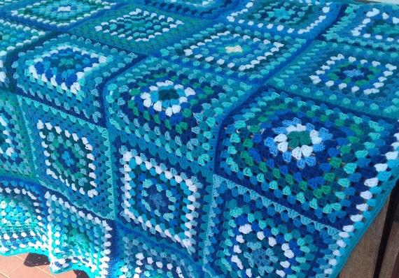 Handgemachte retro Quadrate Oma Decke