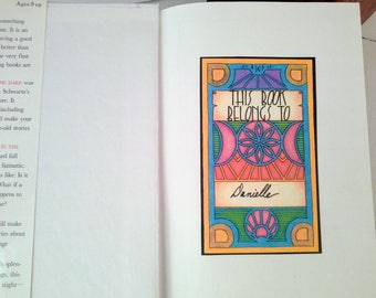 5 Art Deco Bookplates