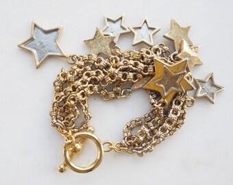 Vintage Kenneth Lane star charm bracelet