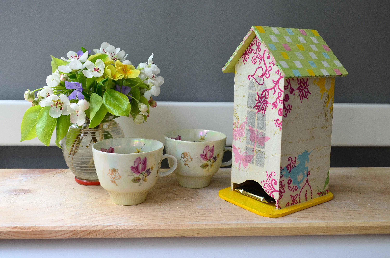 Einhorn Fee Küche Tee Haus Veranstalter Holz Tee Kasten