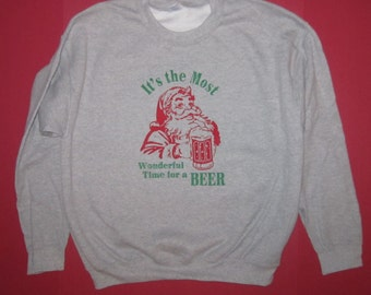 sweatshirt its the most wonderful time for a beer funny christmas shirt santa claus ugly sweater party t tee drinking graphic awesome cute