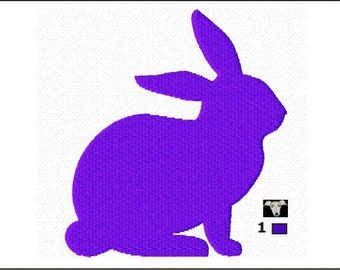 Rabbit Silhouette Mini Embroidery Designs in 5 sizes